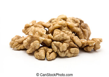 Walnuts on white background - Walnuts isolated on white ...