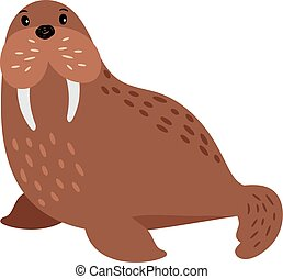 Walrus cartoon animal
