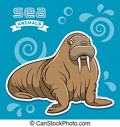Walrus - Vector illustration of a walrus