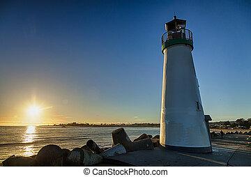 walton, világítótorony, cruz, szent, tengerpart