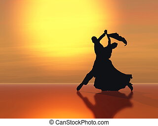 waltz - Dancing in the light of the setting sun.