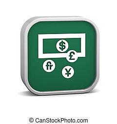 waluta zamiana, znak
