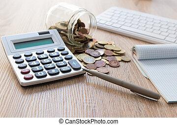 waluty, kalkulator, uważając, oszczędności