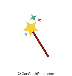 wand fairytale object isolated icon vector illustration ...