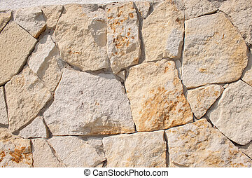 wand, fieldstone, closeup