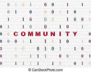 wand, medien, gemeinschaft, hintergrund, sozial, concept: