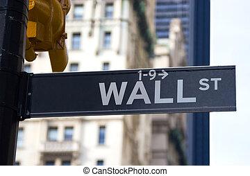 wand- str.., zeichen, new york