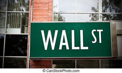 Wand, straße, zeichen