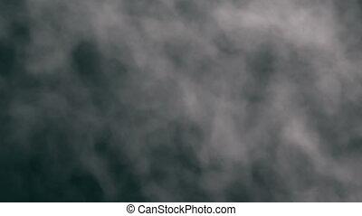 wand, von, rauchwolken, schleife