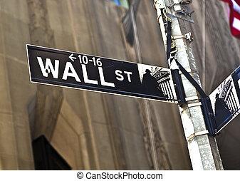 Wand, zeichen, straße,  york, neu,  Manhattan