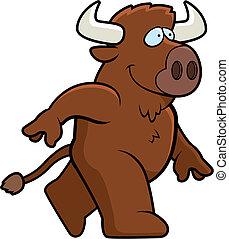 wandelende, buffel