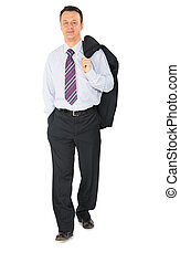 wandelende, zakenman