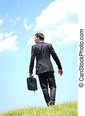 wandelende, zakenmens