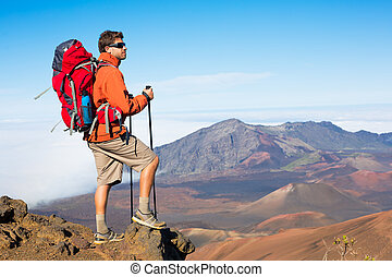 wanderer, rucksack