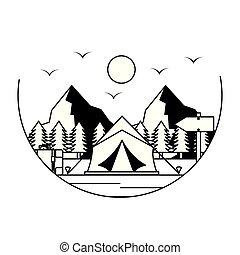 wanderlust, 圖像, 宿營的帳蓬