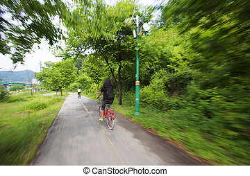 wanderung, fahrrad