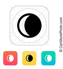Waning crescent moon icon.