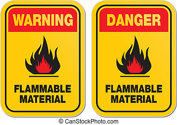 waning flammable material signs