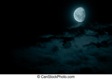 Waning Gibbous Moon - Mysterious Waning Gibbous Moon and...