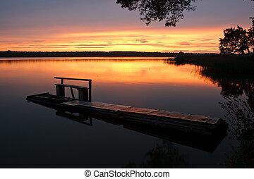 waning sunset