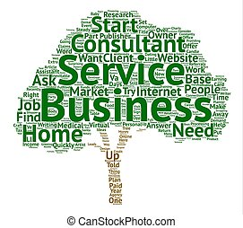 Want To Make Money From Home Quickly Offer A Service part text background word cloud concept