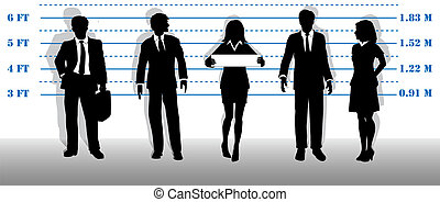 Wanted business people lineup mugshot - A company of most...