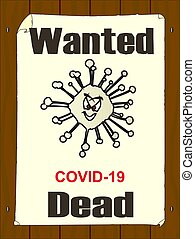 Wanted Dead Poster For Covid 19