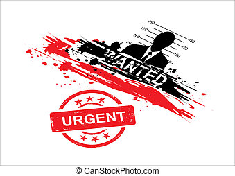 wanted design with stamp urgent