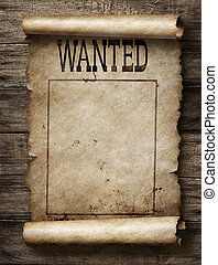 Wanted for reward poster - Wanted dead or live paper reward...