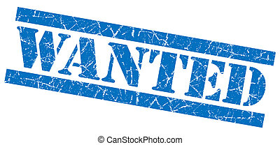 Wanted grunge blue stamp