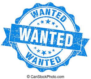 Wanted Grunge Stamp