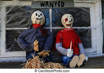 Wanted Halloween Monsters Gang - Halloween Decoration, Dolls...