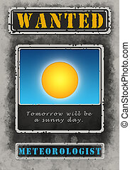 Wanted Meteorologist Poster Illustration