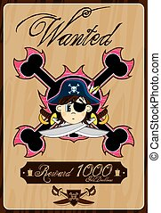 Wanted Pirate Poster