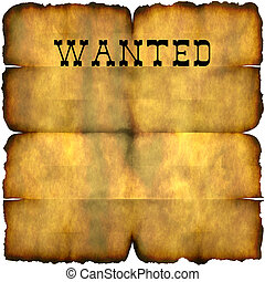 Wanted Poster - An empty wanted poster with copy space...