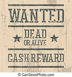 wanted poster letters