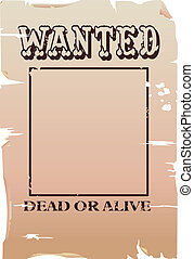 a vector wanted poster, type created for the poster.