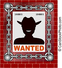 wanted poster image vectorized