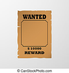 Wanted poster. Vector