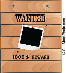 Wanted poster, vector
