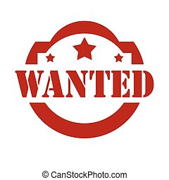 Wanted-red stamp