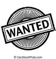 Wanted rubber stamp