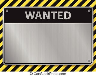 Wanted sign, illustration vector
