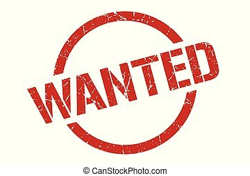 wanted stamp - wanted red round stamp