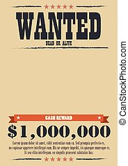 Wanted Vintage Poster