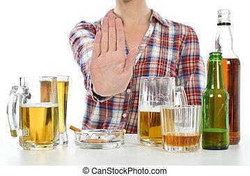 wants, abbahagy, ivás, nő, dohányzó