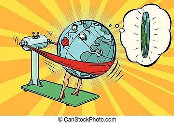 wants, gewicht, karakter, dik, planeet, verliezen, aarde