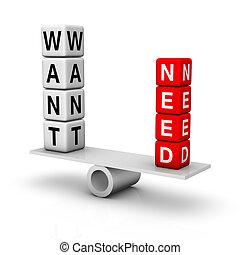 wants, necesidades
