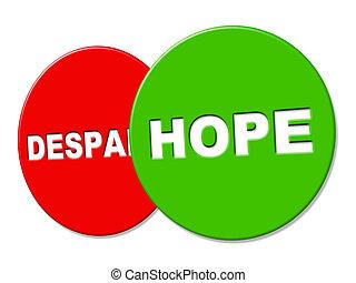 wants, représente, désireux, signe, exposer, espoir