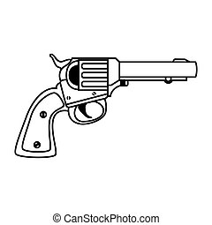 wapen, pistool, revolver